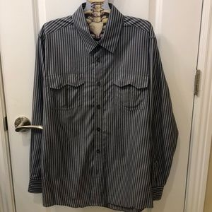 7 Diamonds Men's S Striped Dress Shirt